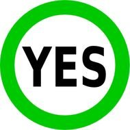 Green yes sign clipart