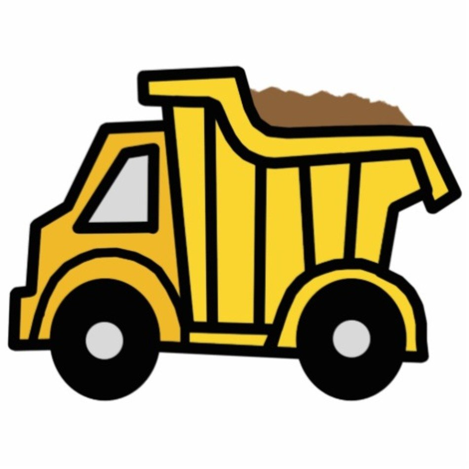 Dirt dump truck. Cartoon clip art free