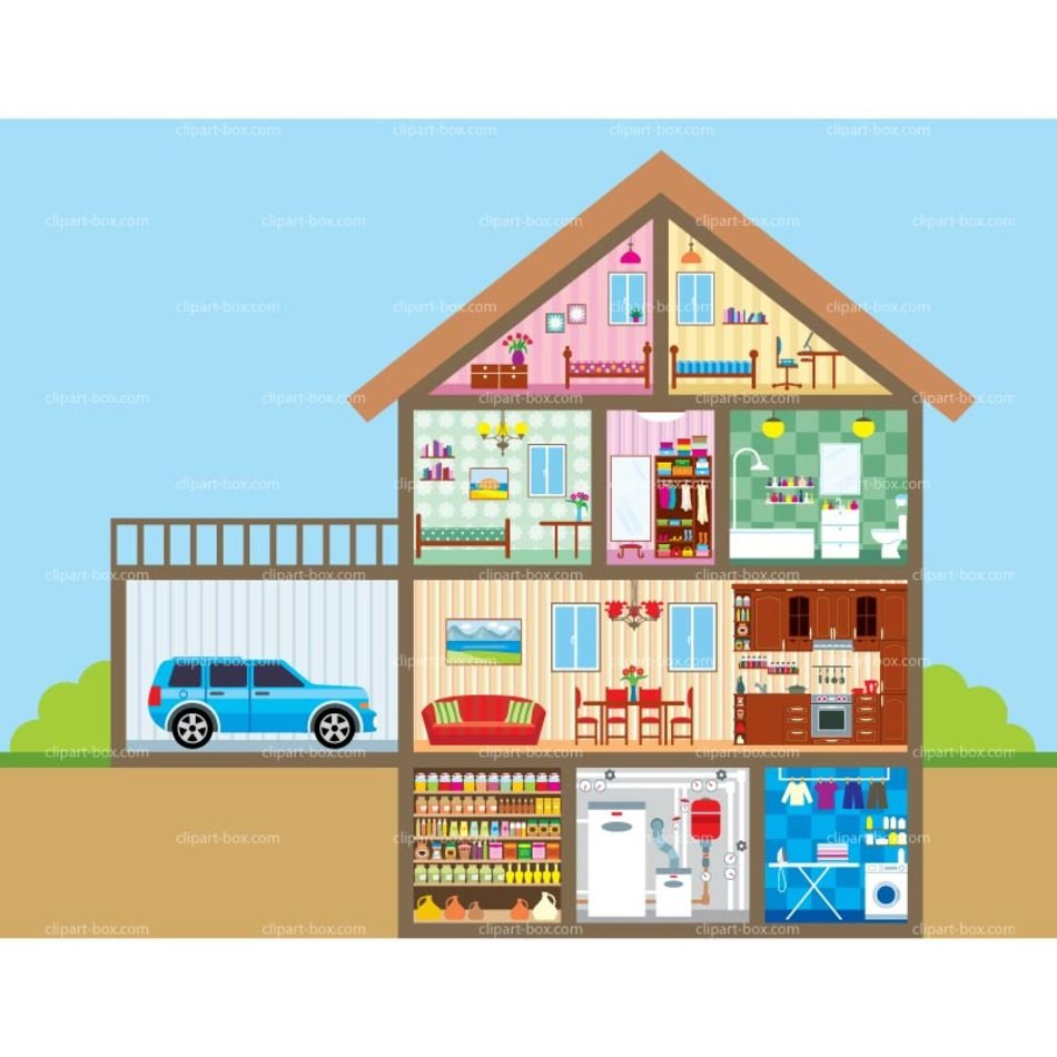 Doll House Clip Art drawing