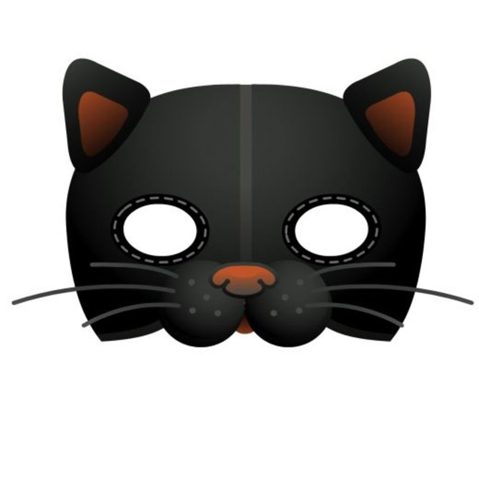 Printable Cat Mask Template Free Image