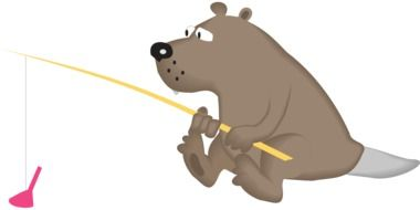 Bear is fishing clipart