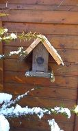 picture of the wooden bird house