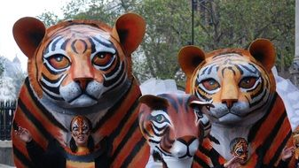 Tiger Mask Costume at carnival