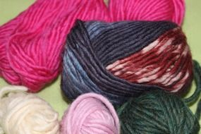 Colorful soft wool
