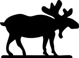 drawing a silhouette of a horned moose