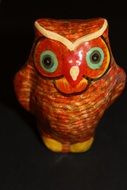 Owl Colorful wooden figure