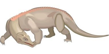 drawing of a dinosaur looking back