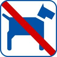 No Pets sign drawing