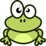 Frog Cartoon comic drawing