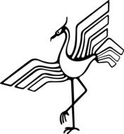 graphic image of a stork