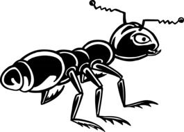 Ant Black Insect drawing