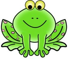 Green Frog cartoon drawing