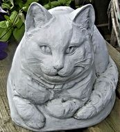 Cat Ornament Garden Pottery