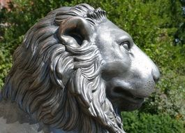 bronze sculpture of a lion
