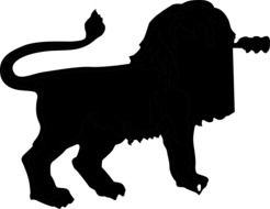 clipart of the lion silhouette