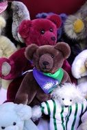 colorful teddy bears toys
