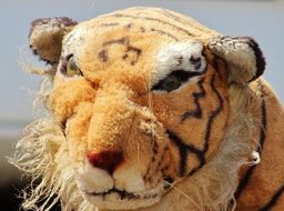 plush toy angry tiger