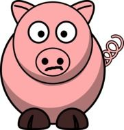 graphic image of a funny pink pig