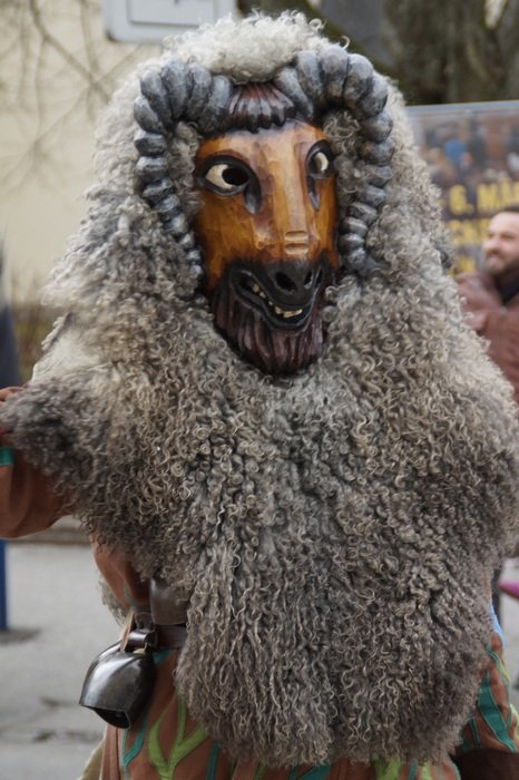 man in goat mask