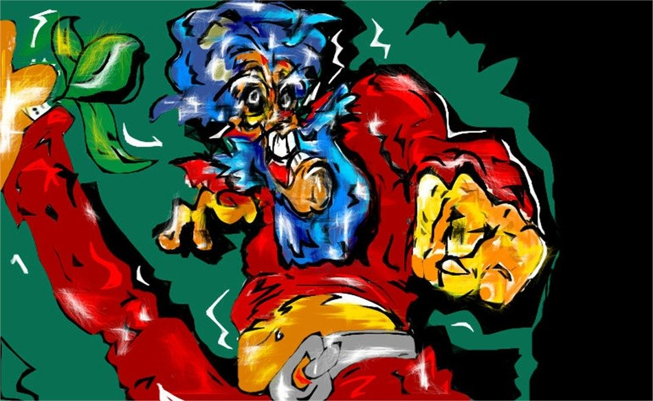 Hero Super Lion as a drawing