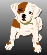 drawing of a puppy in computer graphics