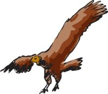 drawing of a brown vulture