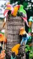Ceramic colorful Birds