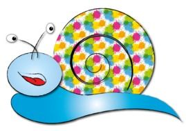 graphic image of a bright snail