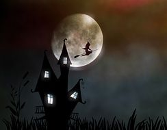 clipart of the witch's house