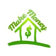 Clipart of green make Money