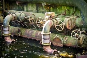 industrial architecture water turbine