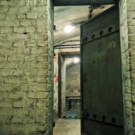 iron doors to the bomb shelter