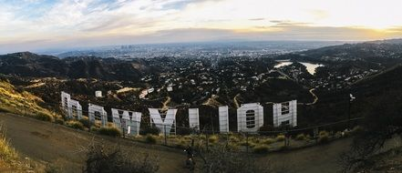Hollywood sign on the mountain