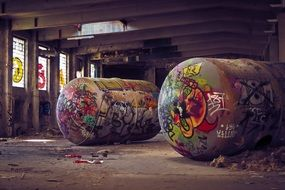 graffiti at an abandoned factory