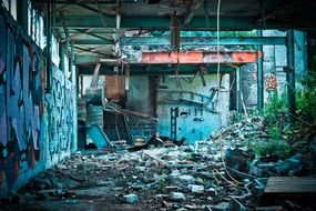 dilapidated factory