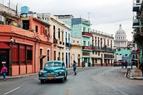 Old car in Havana in Cuba