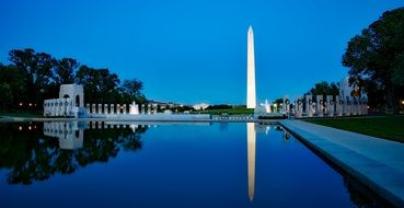 monument in washington dusk