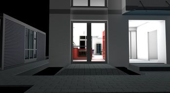 3d model of the night kitchen
