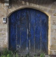 Painted Wood Blue Door