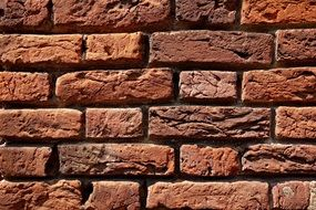 red brick wall as texture