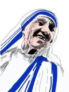 Mother Teresa drawing