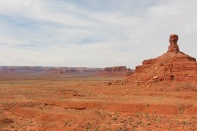 scenic landscapes in the valley of the gods in utah