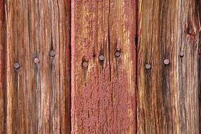 wooden boards with old rusty nails