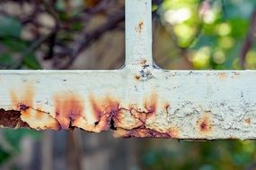 rust on a metal fence