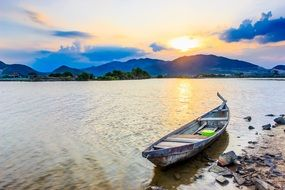 fishing boat by the sea in Thailand