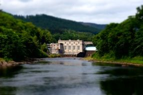 Hydroelectric Power Station on the river