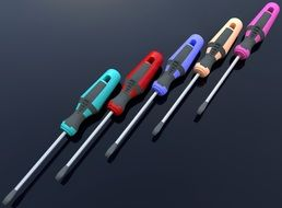 screwdriver with colorful handles