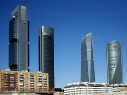 Landscape of Skyscrapers in Madrid