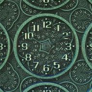 antique green wall clock