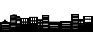 Silhouette City Buildings drawing